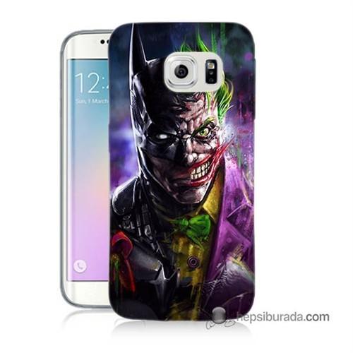 Teknomeg Samsung Galaxy S6 Edge Plus Kılıf Kapak Batman Vs Joker Baskılı Silikon