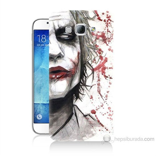 Teknomeg Samsung Galaxy A8 Kanlı Joker Baskılı Silikon Kılıf