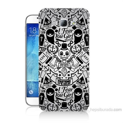 Teknomeg Samsung Galaxy A8 Karikatür Baskılı Silikon Kılıf