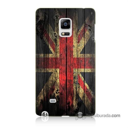 Teknomeg Samsung Galaxy Note Edge Kapak Kılıf İngiliz Bayrağı Baskılı Silikon