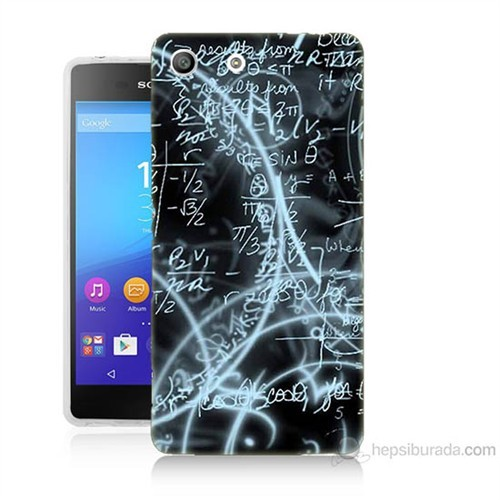 Teknomeg Sony Xperia M5 Matematik Baskılı Silikon Kılıf