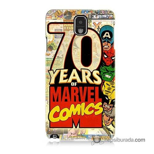 Teknomeg Samsung Galaxy Note 3 Kılıf Kapak Marvel Karakterleri Baskılı Silikon