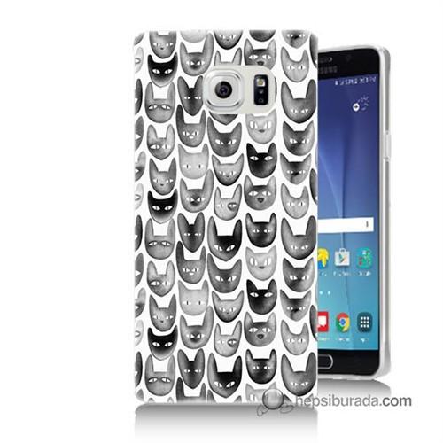 Teknomeg Samsung Galaxy Note 5 Kapak Kılıf Kediler Baskılı Silikon
