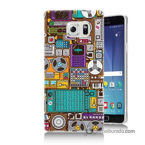 Teknomeg Samsung Galaxy Note 5 Kılıf Kapak Teknoloji Baskılı Silikon