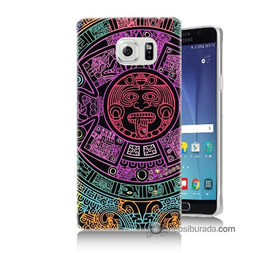 Teknomeg Samsung Galaxy Note 5 Kılıf Kapak Mayalar Baskılı Silikon