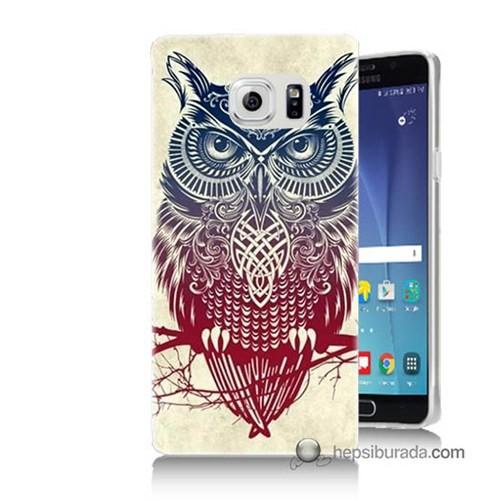 Teknomeg Samsung Galaxy Note 5 Kılıf Kapak Mistik Baykuş Baskılı Silikon