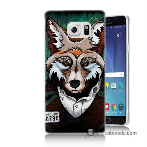 Teknomeg Samsung Galaxy Note 5 Kılıf Kapak Bad Wolf Baskılı Silikon