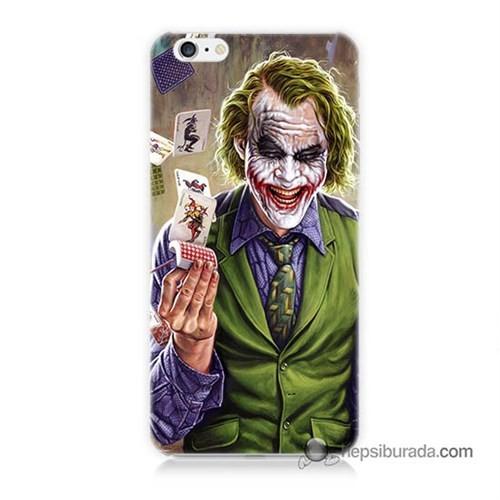 Teknomeg İphone 6 Kılıf Kapak Kartlı Joker Baskılı Silikon