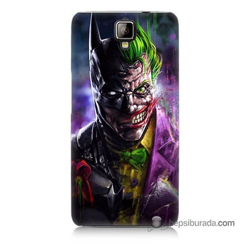 Teknomeg General Mobile Discovery 2 Kılıf Kapak Batman Vs Joker Baskılı Silikon