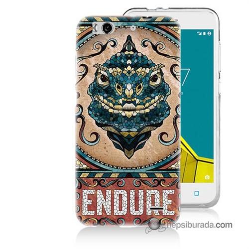 Teknomeg Vodafone Smart 6 Kılıf Kapak Endure Baskılı Silikon