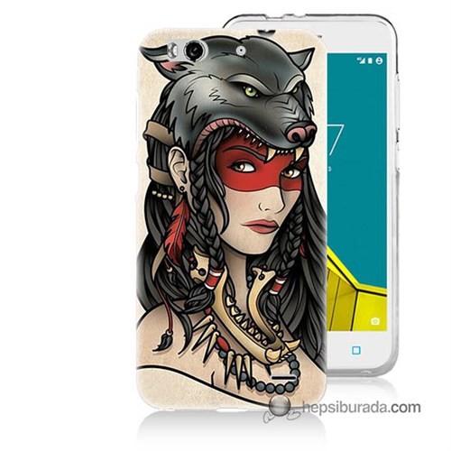 Teknomeg Vodafone Smart 6 Kapak Kılıf Pocahontas Baskılı Silikon
