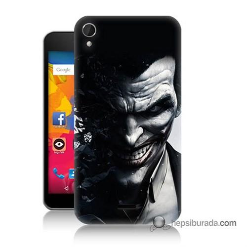Teknomeg Casper Via V3 Kılıf Kapak Joker Baskılı Silikon