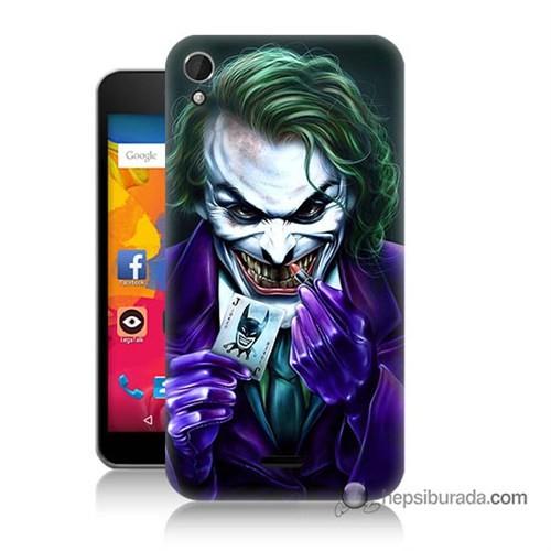 Teknomeg Casper Via V3 Kapak Kılıf Joker Baskılı Silikon
