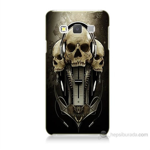 Teknomeg Samsung Galaxy A5 Kapak Kılıf İskeletler Baskılı Silikon