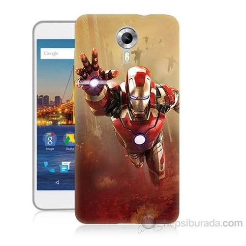 Teknomeg General Mobile Discovery 4G Android One Demir Adam Baskılı Silikon Kapak Kılıf