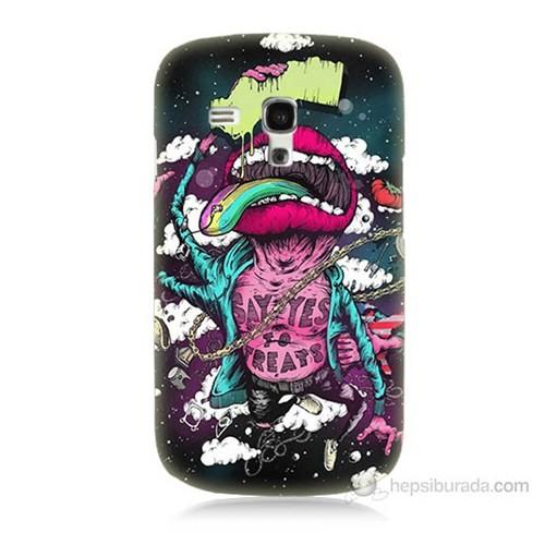 Teknomeg Samsung Galaxy S3 Mini Roling Stones Baskılı Silikon Kılıf