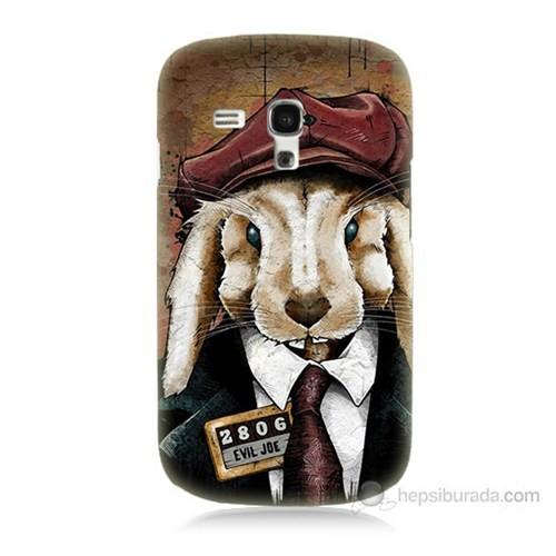 Teknomeg Samsung Galaxy S3 Mini Kötü Tavşan Baskılı Silikon Kılıf