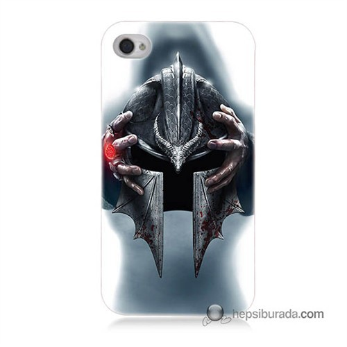 Teknomeg İphone 4S Kılıf Kapak Assassins Creed Baskılı Silikon