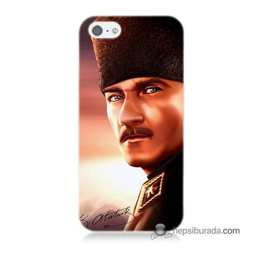 Teknomeg İphone 5S Kapak Kılıf Mustafa Kemal Baskılı Silikon