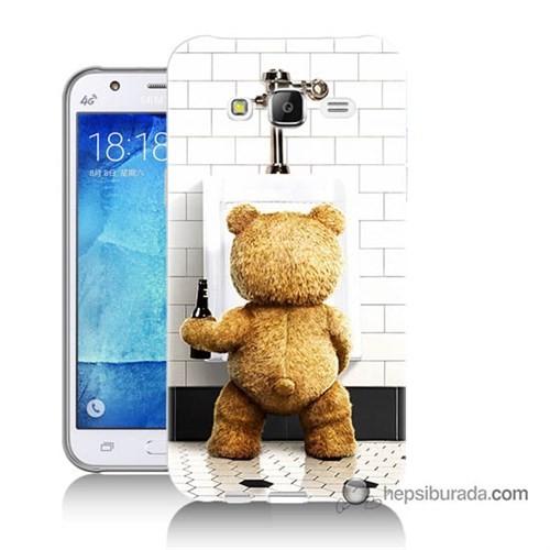 Teknomeg Samsung Galaxy J5 Kılıf Kapak Tedy Bear Baskılı Silikon