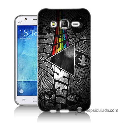 Teknomeg Samsung Galaxy J5 Kapak Kılıf Pink Floyd Baskılı Silikon