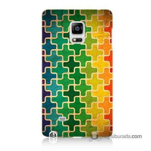 Teknomeg Samsung Galaxy Note Edge Kapak Kılıf Renkli Artı Baskılı Silikon