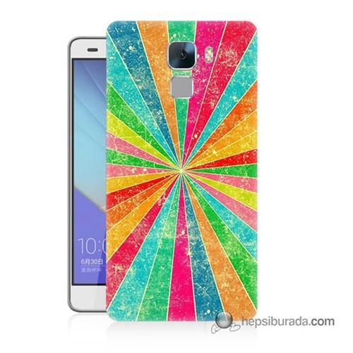 Teknomeg Huawei Honor 7 Kapak Kılıf Renk Efekti Baskılı Silikon
