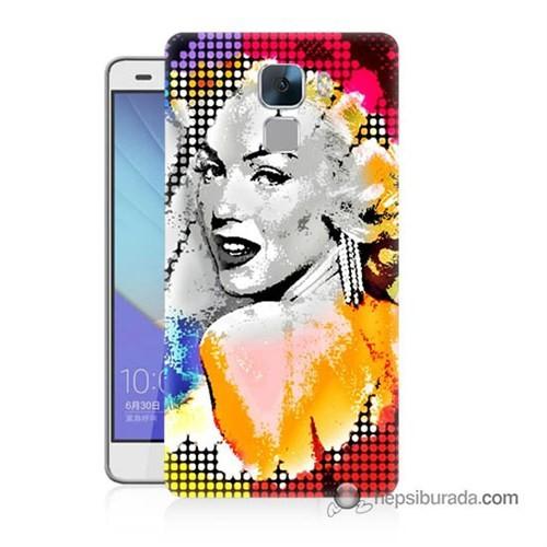 Teknomeg Huawei Honor 7 Kapak Kılıf Marilyn Monroe Baskılı Silikon