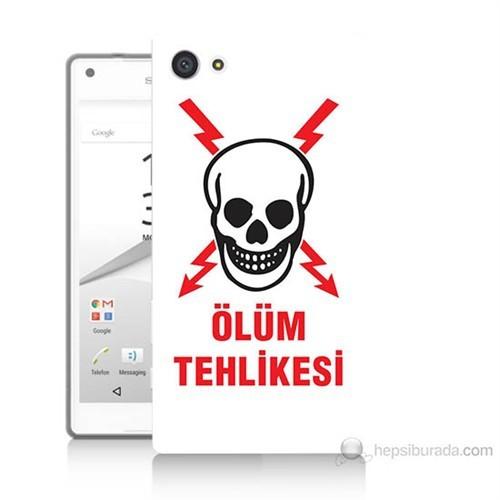 Teknomeg Sony Xperia Z5 Premium Ölüm Tehlikesi Baskılı Silikon Kılıf
