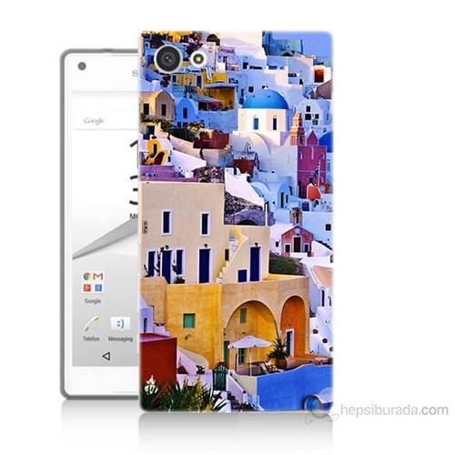 Teknomeg Sony Xperia Z5 Premium İbiza Baskılı Silikon Kılıf