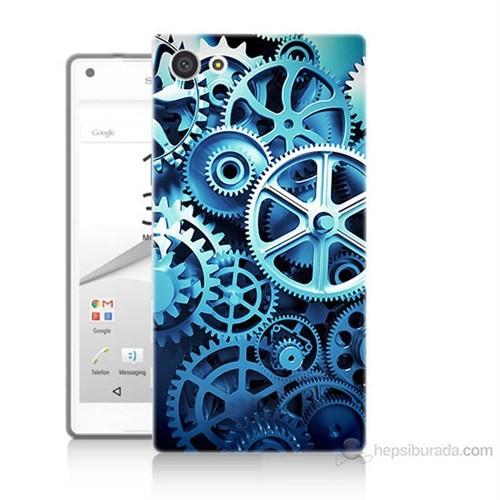 Teknomeg Sony Xperia Z5 Premium Çarklar Baskılı Silikon Kılıf