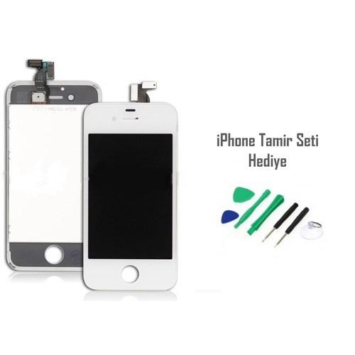 iPhone 4 Beyaz Ekran Lcd Tamir Seti Hediyeli