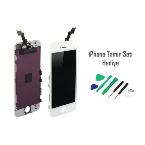 iPhone 5s Beyaz Ekran Lcd Tamir Seti Hediyeli