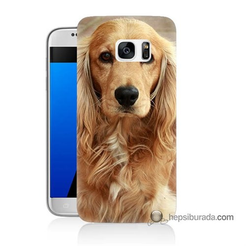 Teknomeg Samsung Galaxy S7 Kapak Kılıf Köpek Baskılı Silikon