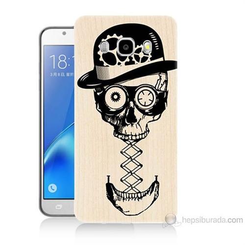 Teknomeg Samsung Galaxy J7 2016 Kapak Kılıf Mekanik Kurukafa Baskılı Silikon