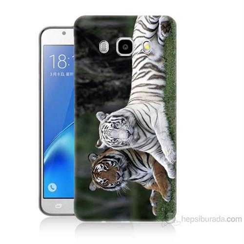 Teknomeg Samsung Galaxy J7 2016 Kapak Kılıf Aslanlar Baskılı Silikon