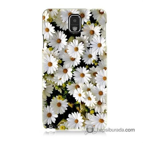 Teknomeg Samsung Galaxy Note 3 Kılıf Kapak Papatyalar Baskılı Silikon
