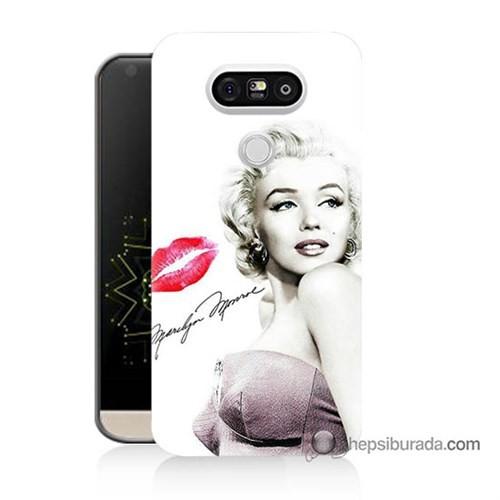 Teknomeg Lg G5 Kapak Kılıf Marilyn Monroe Baskılı Silikon