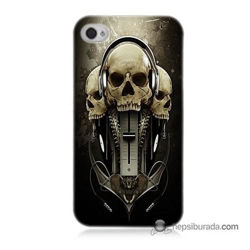 Teknomeg İphone 4S Kapak Kılıf İskeletler Baskılı Silikon