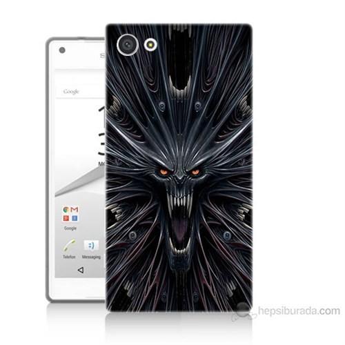 Teknomeg Sony Xperia Z5 Mini Korku Canavarı Baskılı Silikon Kılıf