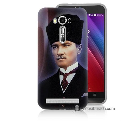 Teknomeg Asus Zenfone Laser 5.5 Kılıf Kapak Mustafa Kemal Atatürk Baskılı Silikon