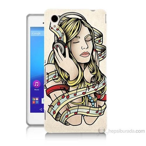 Teknomeg Sony Xperia M4 Aqua Müzik Aşkı Baskılı Silikon Kılıf