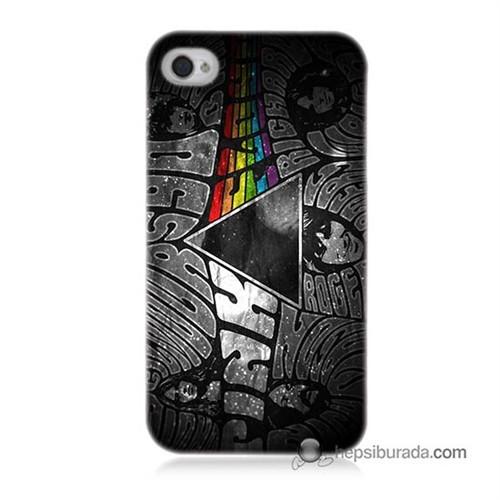 Teknomeg İphone 4S Kapak Kılıf Pink Floyd Baskılı Silikon