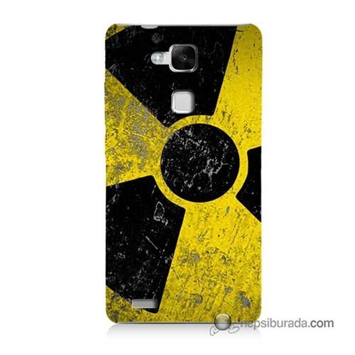 Teknomeg Huawei Mate 7 Kapak Kılıf Radyasyon Baskılı Silikon