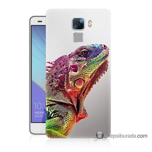 Teknomeg Huawei Honor 7 Kapak Kılıf İguana Baskılı Silikon
