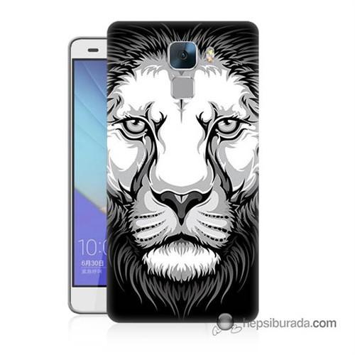 Teknomeg Huawei Honor 7 Kapak Kılıf Aslan Baskılı Silikon