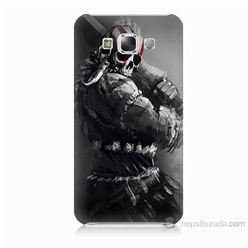Teknomeg Samsung Galaxy E7 Tribal Warrior Baskılı Silikon Kılıf