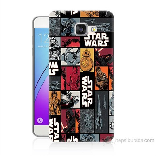 Teknomeg Samsung Galaxy A5 2016 Kapak Kılıf Star Wars Baskılı Silikon