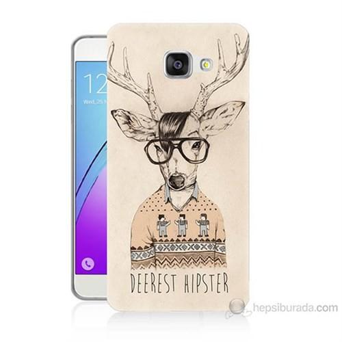 Teknomeg Samsung Galaxy A5 2016 Kapak Kılıf Gözlüklü Geyik Baskılı Silikon