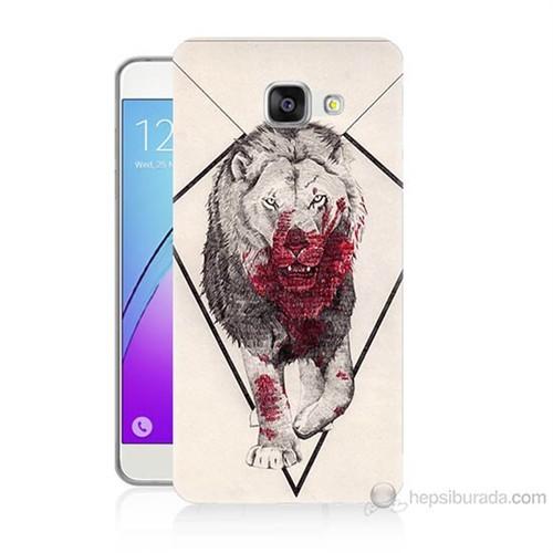 Teknomeg Samsung Galaxy A5 2016 Kapak Kılıf Kanlı Aslan Baskılı Silikon